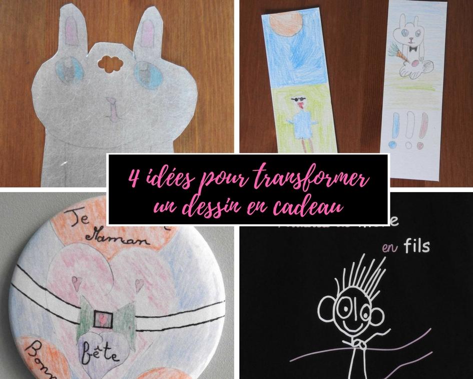 4 idées pour transformer un dessin en cadeau